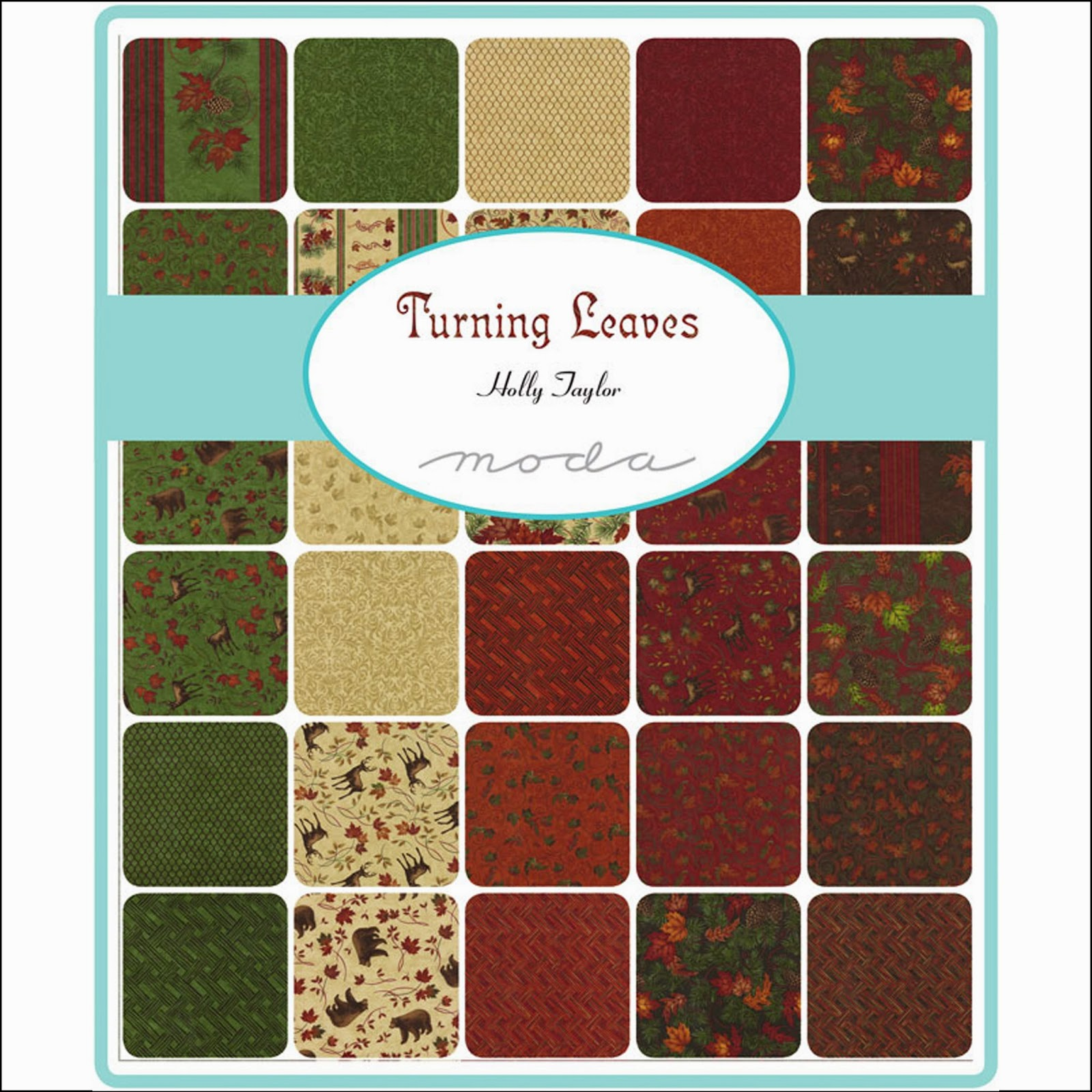 Moda TURNING LEAVES Quilt Fabric by Holly Taylor for Moda Fabrics