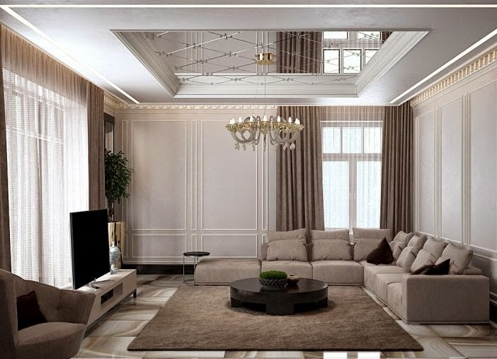 Modern Pop False Ceiling Designs For Living Room 2015