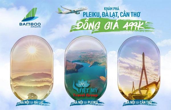 Bamboo Airways mở đường bay đi Pleiku, Đà Lạt, Cần Thơ