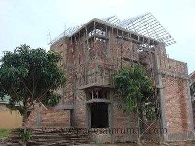 Rumah type 140 sedang dalam konstruksi