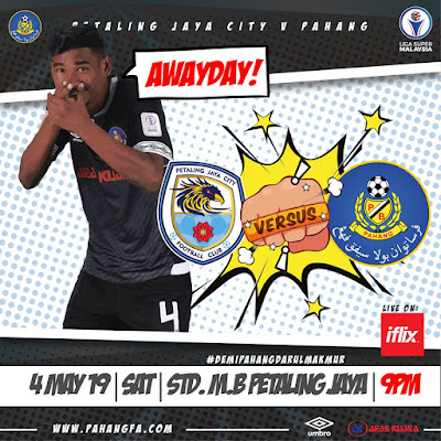 Live Streaming PJ City vs Pahang 4.5.2019 (Liga Super)