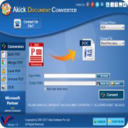 تحميل Akick Document Converter لتحويل و ادارة ملفات PDF مع كود التفعيل free key