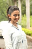 Rakul Preet Singh in Jeans and White Shirt At Jaya Janaki Nayaka le Logo Launch ~  Exclusive 063.JPG