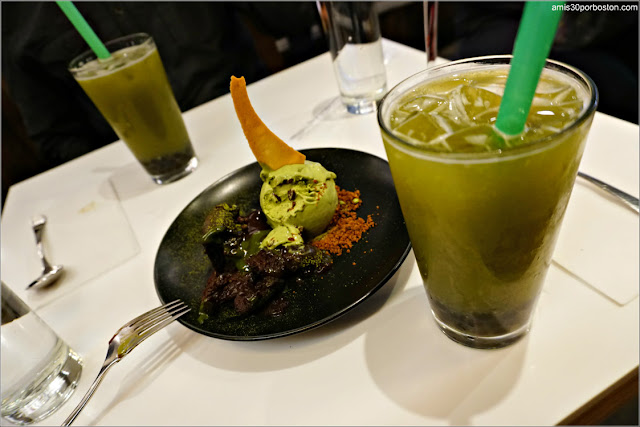 Spot Dessert Bar: Matcha Lava y Lychee Matcha Bubble Tea