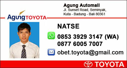 Rekomendasi Sales Agung Toyota 2016 Kuta Badung Denpasar Bali