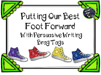 https://www.teacherspayteachers.com/Product/Putting-Our-Best-Foot-Foward-With-Persuasive-Writing-Brag-Tags-2041196