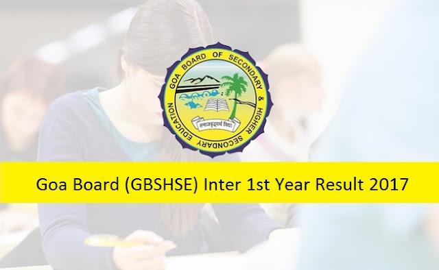 Goa 1st Inter Results