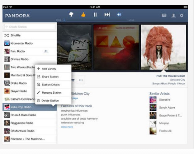 Pandora apps for IOS7