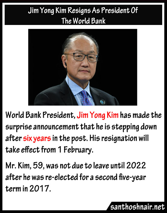 Jim Yong Kim resigns as President of The World Bank
