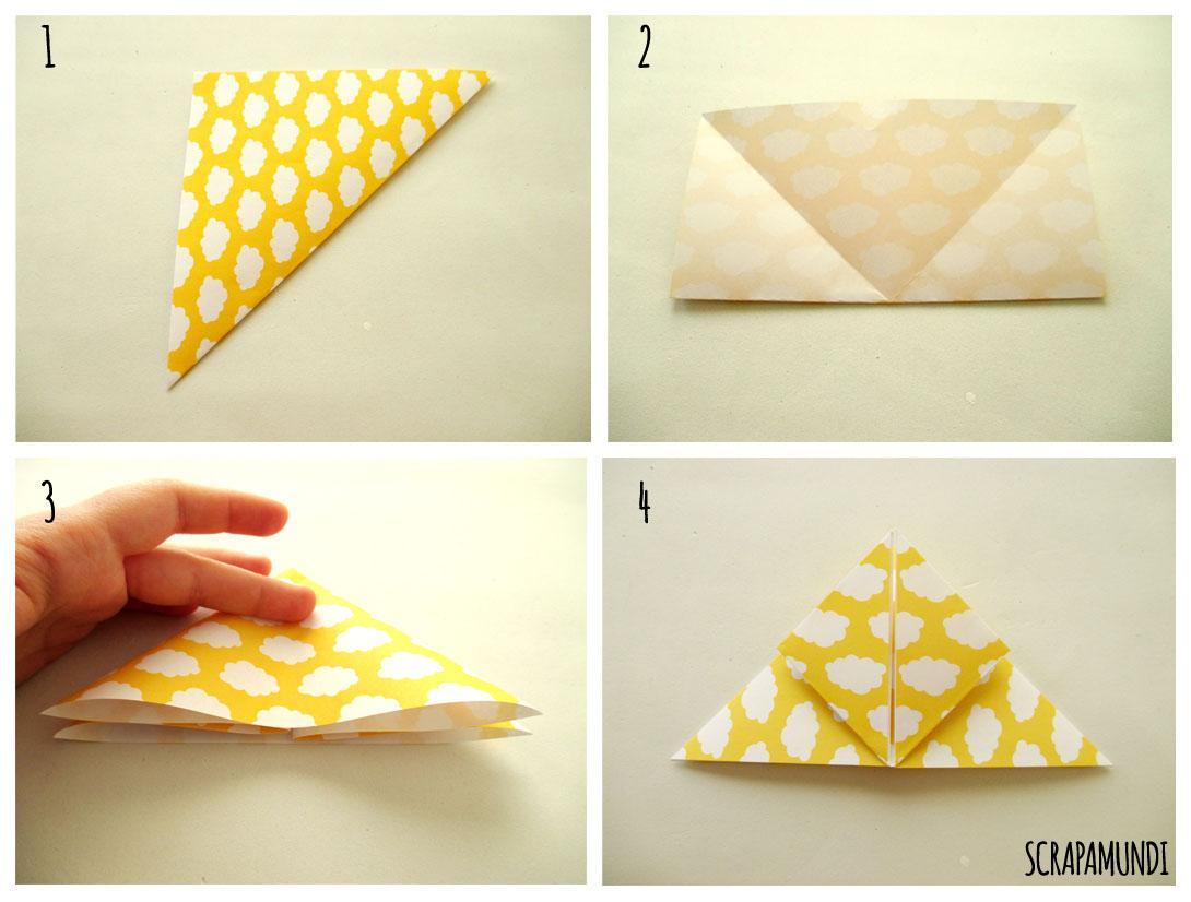 DIY Guirnalda de luces y cajas de origami Scrapamundi
