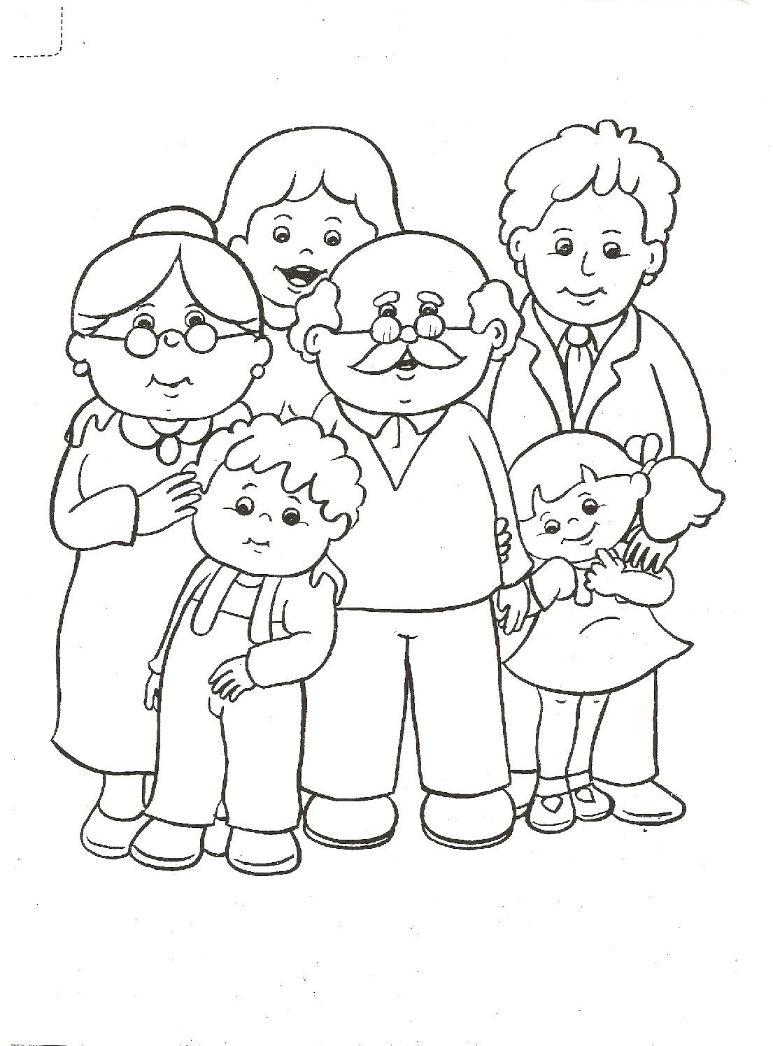 Desenho De Familia Para Colorir Pintar Imprimir Espaco Educar