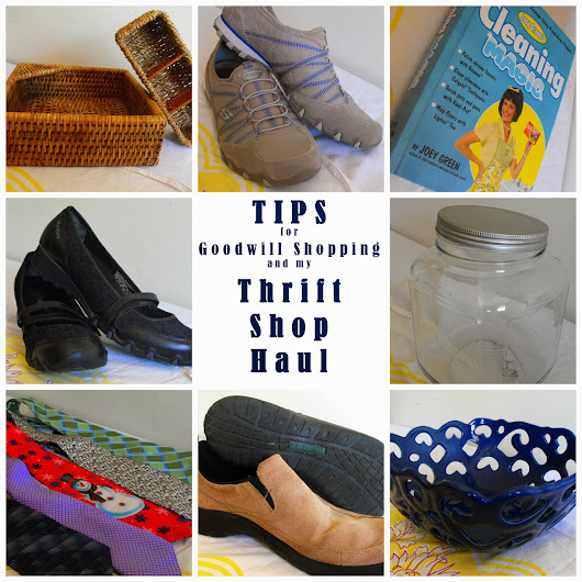 Goodwill Haul and Tips for Thrift Store Shopping