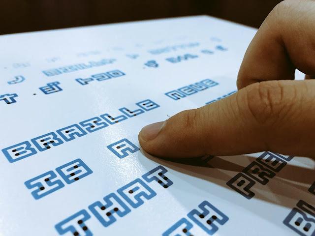 lectura de un texto con braille Neue