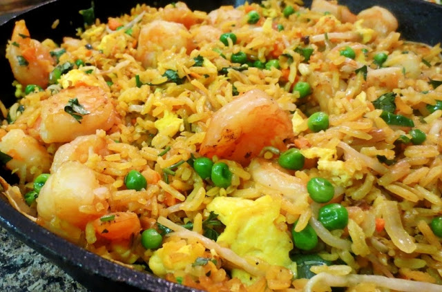 How to Make Shrimp Fried Rice Indonesian Style
