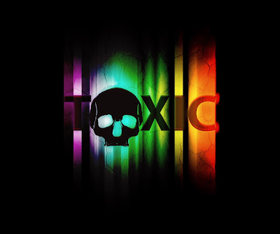 Pic of words toxic with skull as the O