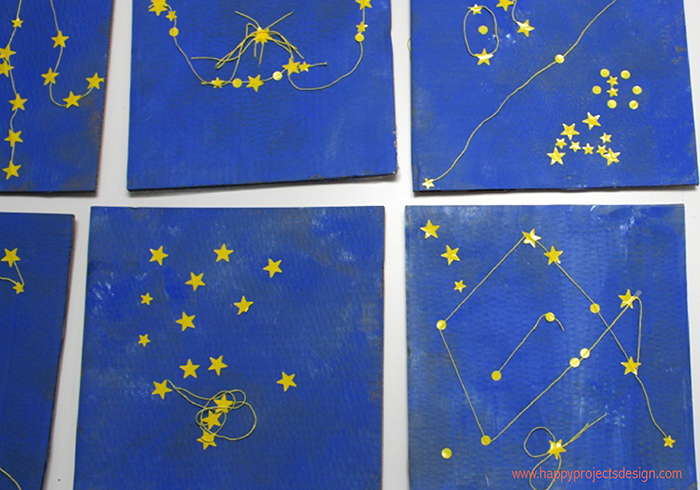 hilos y peques: constelaciones