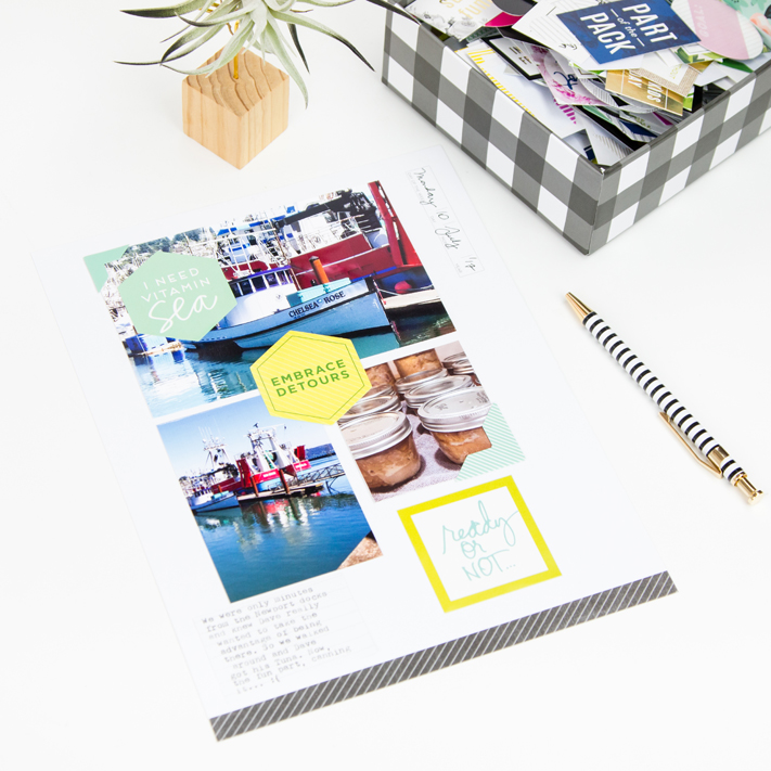 Scrapbooking done in 5 minutes by @createoften for @heidiswapp