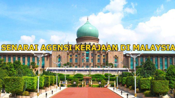 senarai agensi kerajaan malaysia