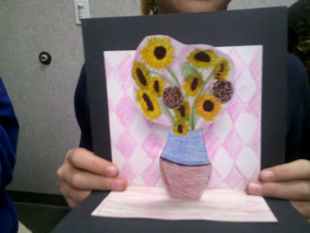 Art With Mrs Smith Van Gogh Sunflowers 3d