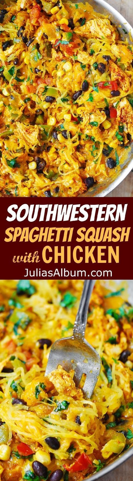 Southwestern Spaghetti Squash with Chicken