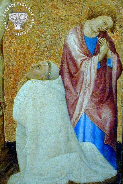 PARIS (75) - Musée du Louvre : Calvaire au moine chartreux (Fin XIVe siècle)