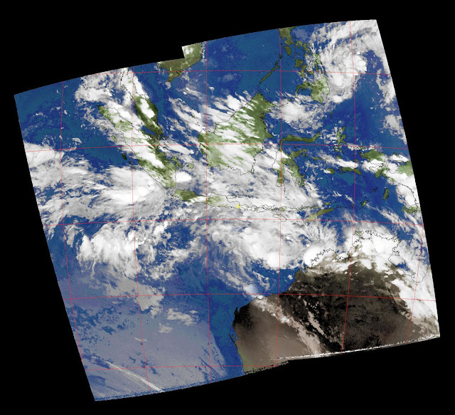 NOAA-18 Composite Image over Indonesia