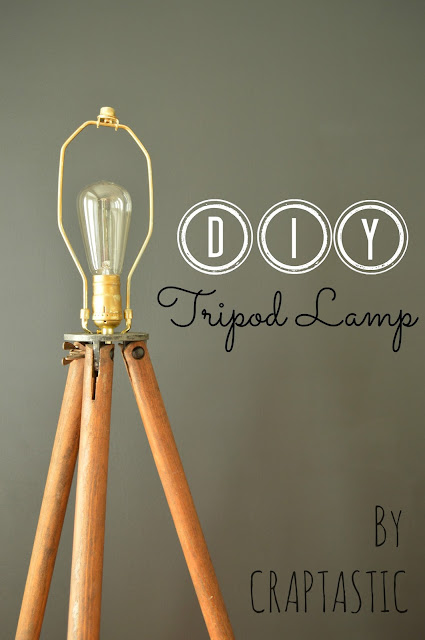 CRAPTASTIC: DIY Tripod Lamp and Dining Room Update