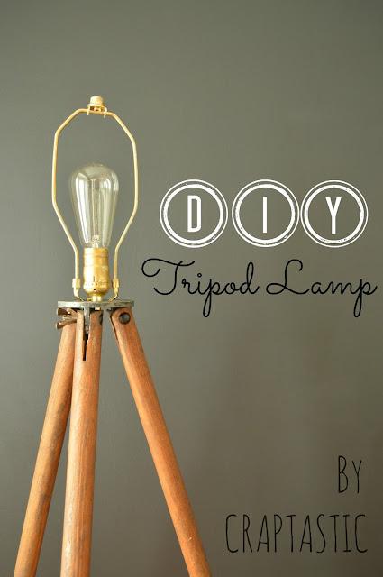 CRAPTASTIC: DIY Tripod Lamp and Dining Room Update