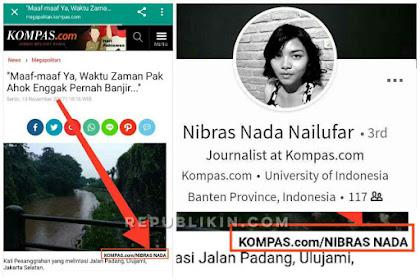 Terbongkar! Demi Ahok Pujaannya, Nibras Wartawan Kompas Ahoker Gagal Move On