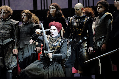 Gounod: Faust - Valdis Jansons (Valentin) & ensemble (Photo: Agnese Zeltina (c) Latvian National Opera and Ballet)
