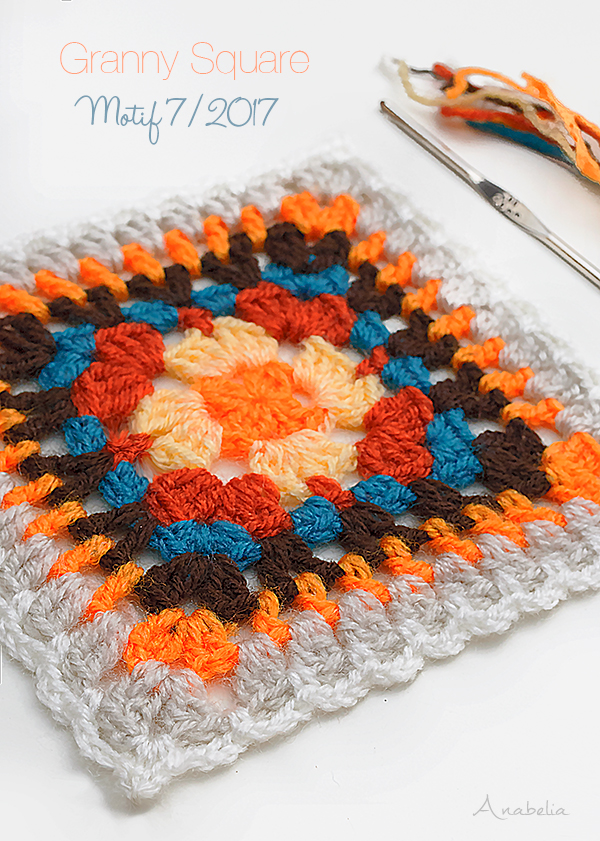 Crochet Square Motif 7-2017 by Anabelia Craft Design