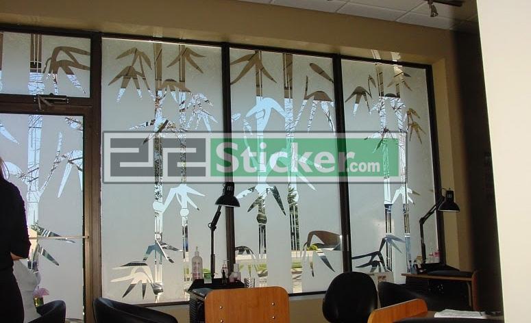 Harga Stiker Kaca Motif Bambu
