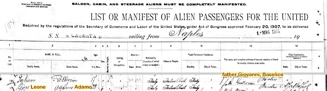 Your immigrant ancestor's ship manifest can tell you their hometown - and their parent's name.