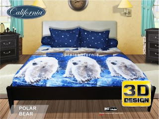 Sprei california 3D Polar bear