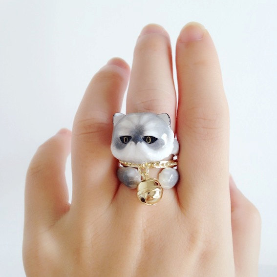 Anel triplo tema animal,, anel bichinhos