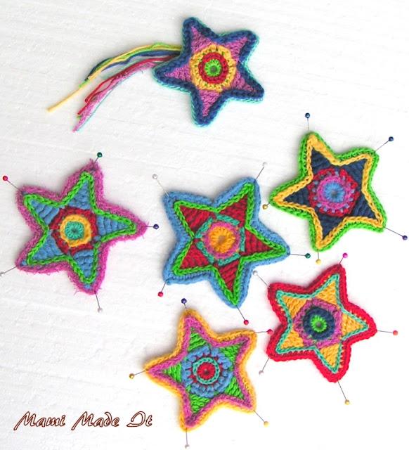 Colorful Crochet Stars - Bunte Häkelsterne