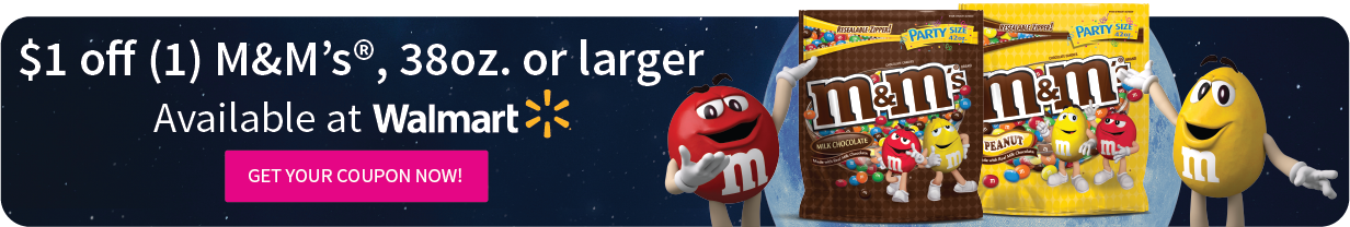 $1 Off Coupon for M&Ms 38 oz or larger