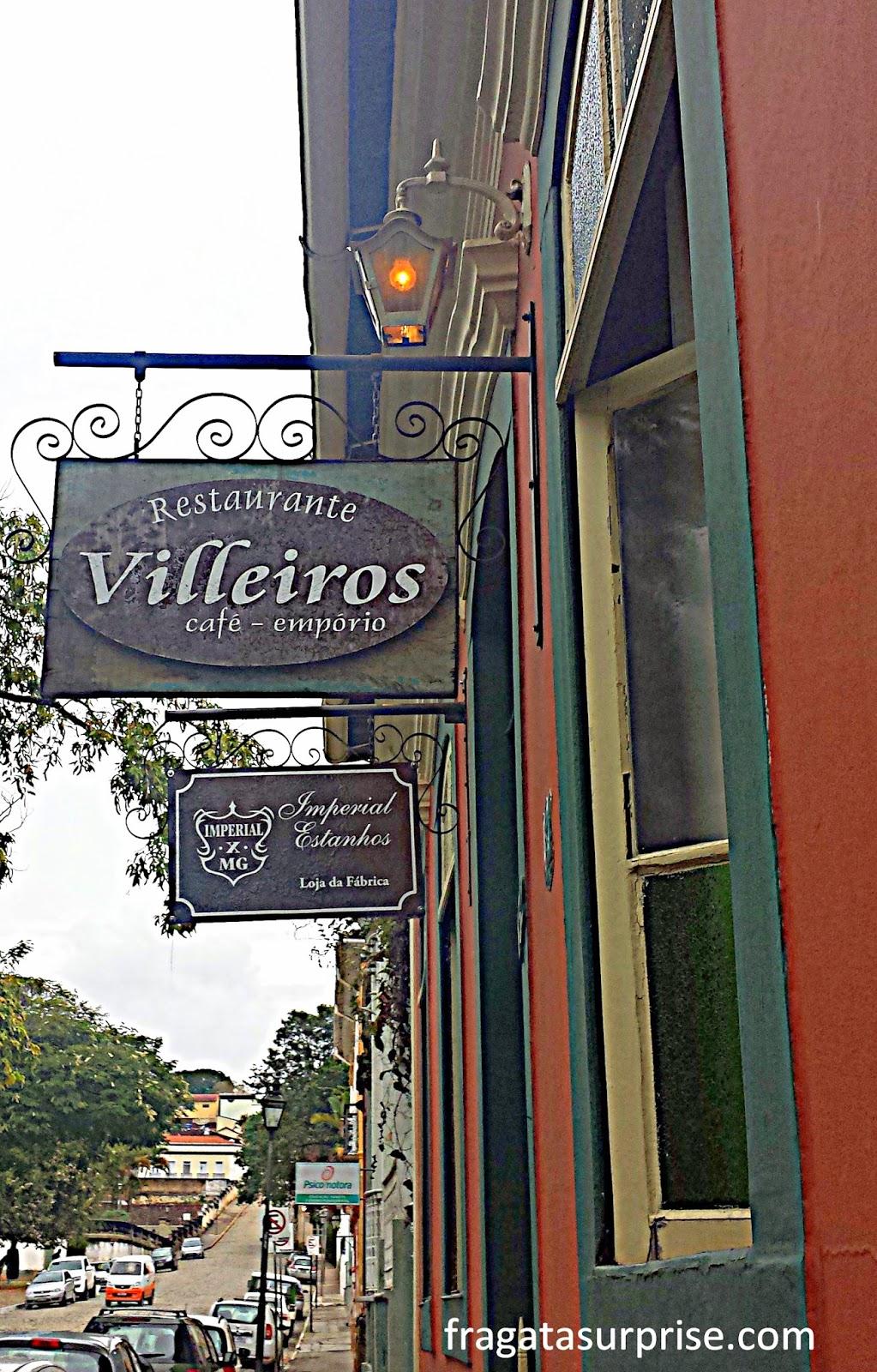 Restaurante Villeiros, em São João del Rei, em Minas Gerais