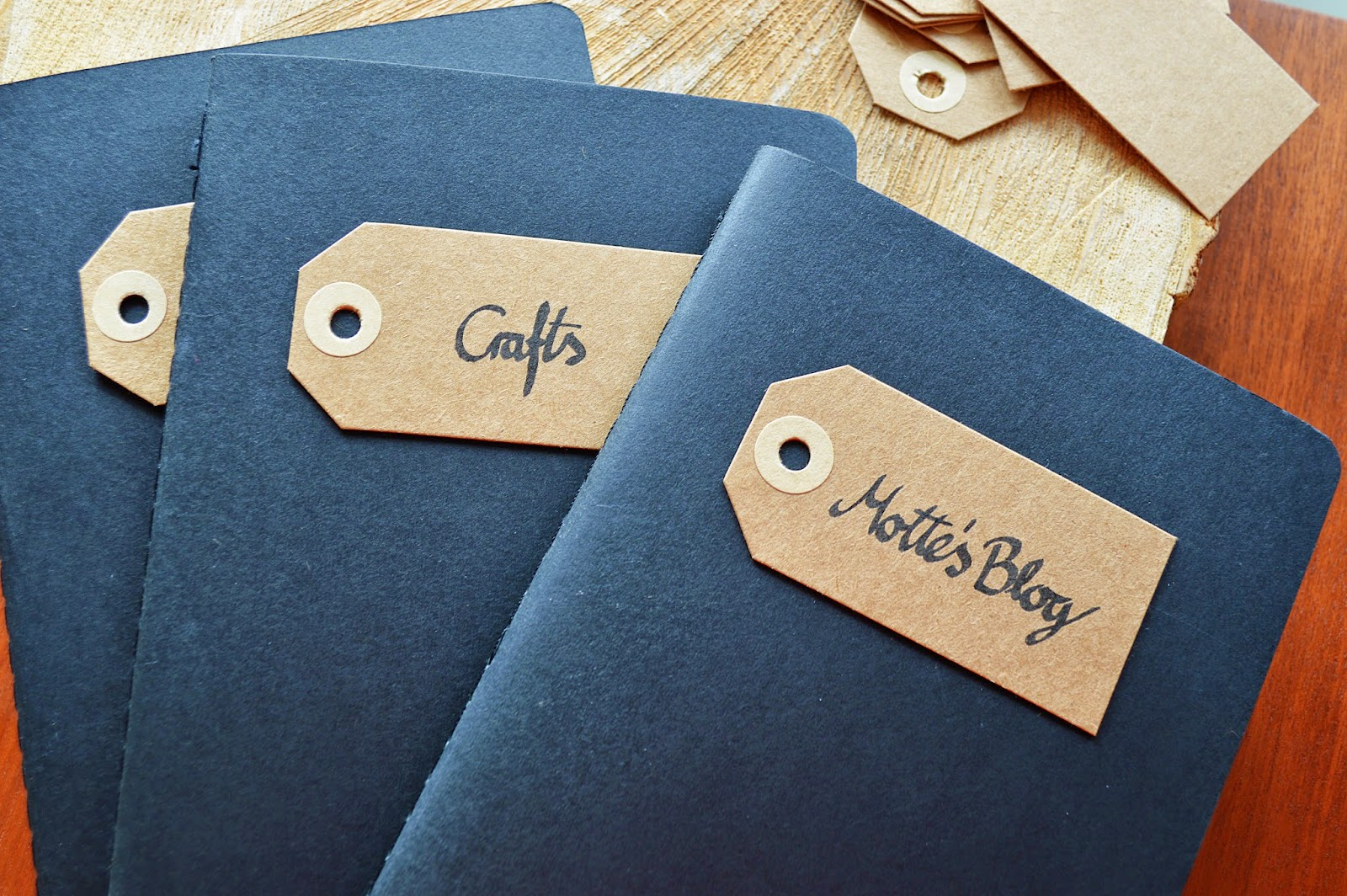 DIY Notebook Tags | Motte's Blog