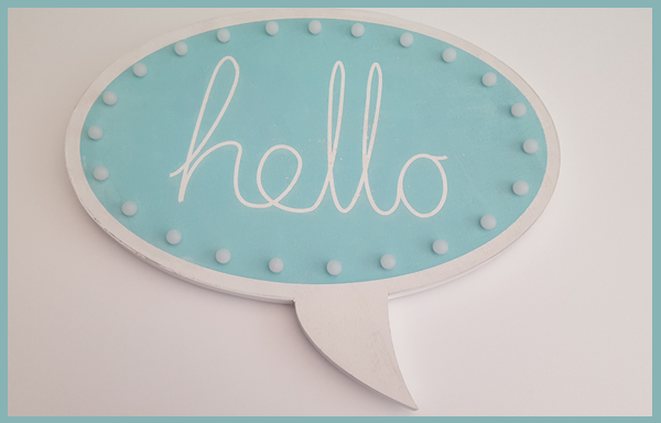 Litecraft speech bubble wall light