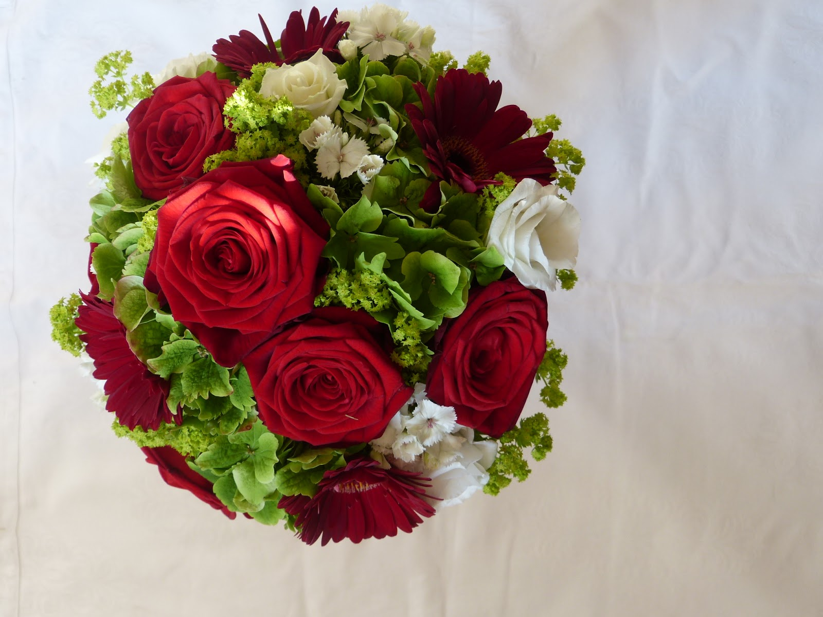 Brautstrau Rote Rosen