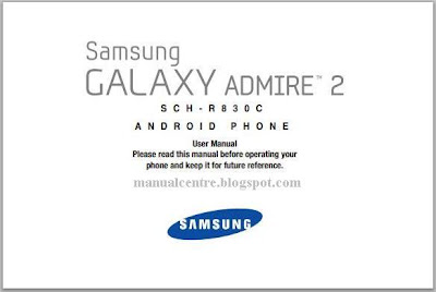 Samsung Galaxy Admire 2 Manual Cover