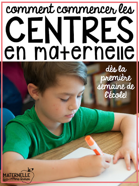 Centres are a great way to keep your students engaged and learning while you pull guided reading groups. But, en maternelle (especially in September!), your students can barely sit still long enough to hear ONE center explanation, let alone a bunch. And they may not even understand French yet!! But, we all know it is important to start building stamina and routine from the very beginning. Here is how I start literacy centres from the very first week of school in my French kindergarten classroom!