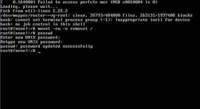 Kemudian ketikkan lagi perintah ini untuk mengganti password rootnya