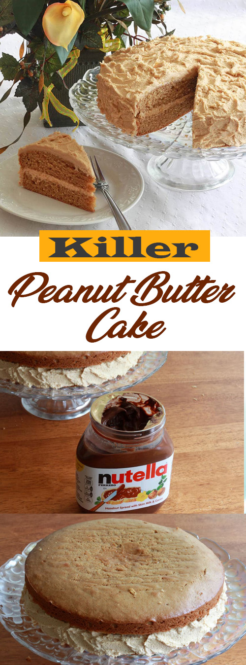 Killer Peanut Butter Cake Recipe