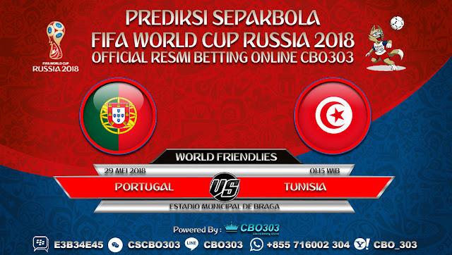 Prediksi Bola Portugal VS Tunisia 29 Mei 2018