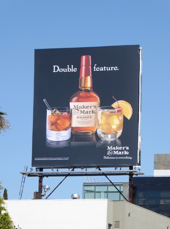 Makers Mark Double feature billboard