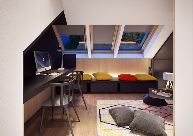 The Loft Apartment Design Idea That Gives Life, Work And ...