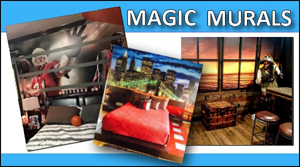 MAGIC MURALS WALL MURALS DOOR MURALS  MURALS - door murals - wall murals - window sticker decals - ceiling murals - door posters - floor wallpaper - Styrofoam Crown Moldings - wall murals - wallpaper murals - floor decals - window wallpaper - Glow in the dark wall mural - decals for stairs