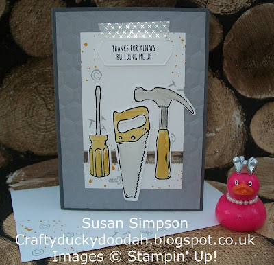 Stampin' Up! UK Independent Demonstrator Susan Simpson, Craftyduckydoodah!, Nailed It, Build It Framelits, Gorgeous Grunge, Coffee & Cards Project February 2017, Supplies available 24/7,